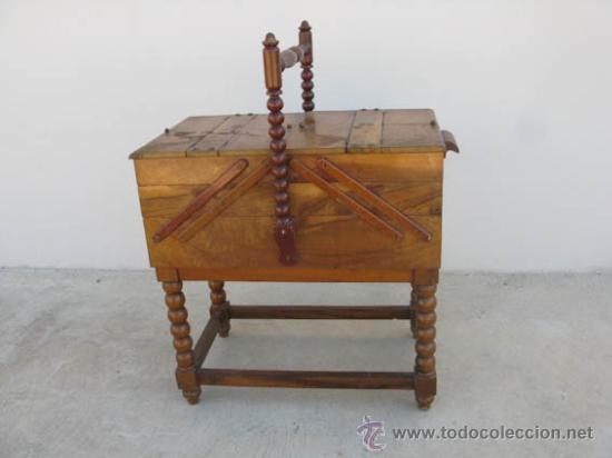 COSTURERO DE MADERA ANTIGUO CON 6 CAJONES. IDEAL DECORACIÓN (Antigüedades - Técnicas - Máquinas de Coser Antiguas - Complementos)