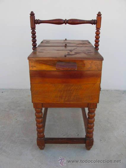 Antigüedades: Costurero de madera antiguo con 6 cajones. ideal decoración - Foto 2 - 34075209