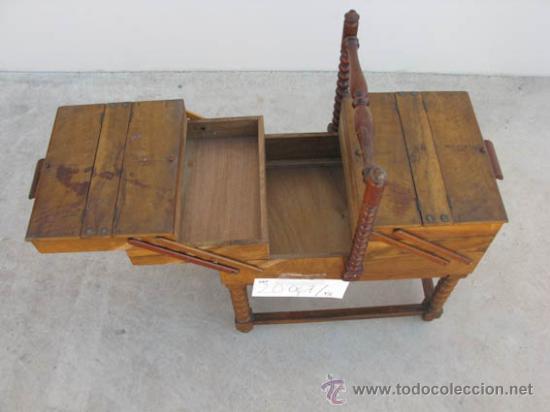 Antigüedades: Costurero de madera antiguo con 6 cajones. ideal decoración - Foto 5 - 34075209