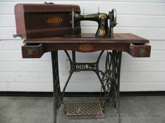 maquina de coser köhler muy antigua con tapa or - Comprar