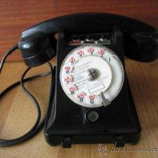 Teléfonos: TELÉFONO ANTIGUO DE BAQUELITA FRANCES MARCA PTT.. Lote 34064513