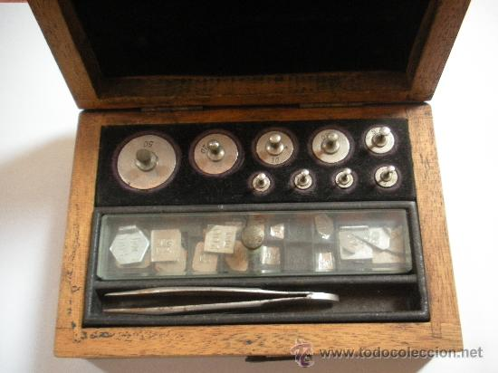 Antigüedades: antiguo Juego de pesas de precision, completo - Foto 2 - 34077127