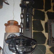 Antigüedades - ANTIGÜA LAMPARA DE FORJA - 34094960