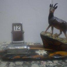Antigüedades: ANTIGUO CALENDARIO DE SOBREMESA. RECUERDO DE LOURDES. Lote 34102291