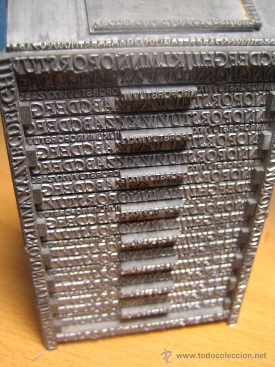 Antigüedades: IMPRENTA, maquetas de plomo prensa Gutenberg y chibalete - lote especial - Foto 3 - 174379774