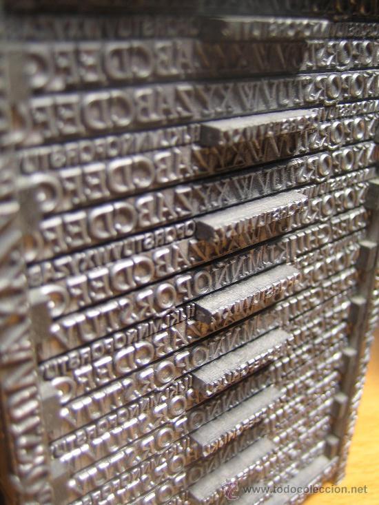 Antigüedades: IMPRENTA, maquetas de plomo prensa Gutenberg y chibalete - lote especial - Foto 4 - 174379774