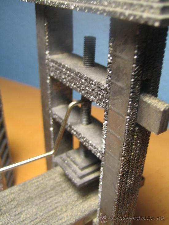 Antigüedades: IMPRENTA, maquetas de plomo prensa Gutenberg y chibalete - lote especial - Foto 5 - 174379774