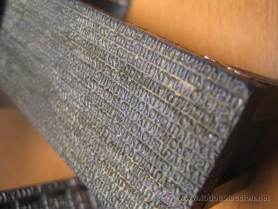 Antigüedades: IMPRENTA, maquetas de plomo prensa Gutenberg y chibalete - lote especial - Foto 6 - 174379774