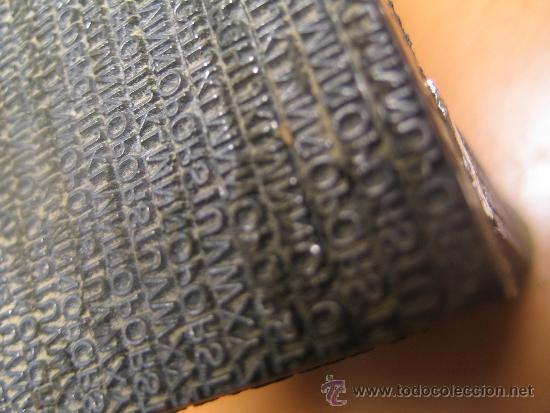 Antigüedades: IMPRENTA, maquetas de plomo prensa Gutenberg y chibalete - lote especial - Foto 7 - 174379774