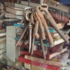 Antigüedades: LLAVES ANTIGUAS LOTE 14 LLAVES. Lote 34128968