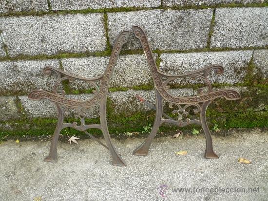 Armazon hierro fundido para banco se jardin comprar objetos cerrajer a y forja antigua en - Bancos de forja para jardin ...
