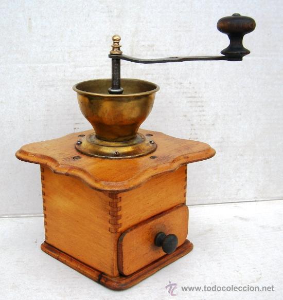 MOLINILLO DE CAFE ANTIGUO , MADERA Y METAL ,GRANDE,, MOL365 (Antigüedades - Técnicas - Molinillos de Café Antiguos)