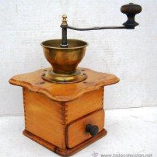 Antigüedades: MOLINILLO DE CAFE ANTIGUO , MADERA Y METAL ,GRANDE,, MOL365. Lote 34423667
