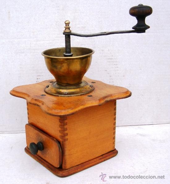 Antigüedades: molinillo de cafe antiguo , madera y metal ,grande,, mol365 - Foto 2 - 34423667