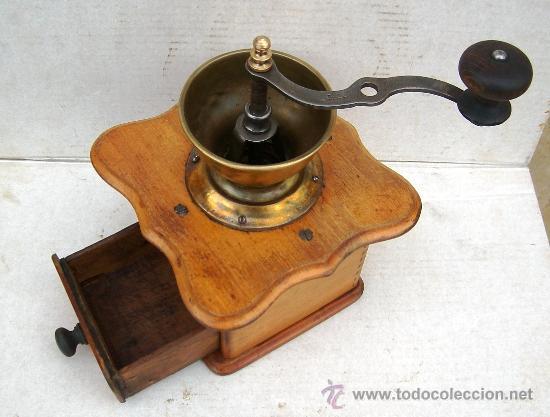 Antigüedades: molinillo de cafe antiguo , madera y metal ,grande,, mol365 - Foto 3 - 34423667