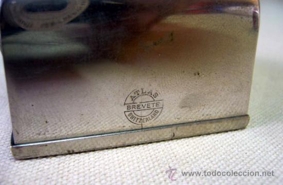 Antigüedades: AFILADOR DE CUCHILLAS, AFILADOR ANTIGUO, ATLAS, BREVETTE, 7 X 6 X 5 CM - Foto 8 - 35379355