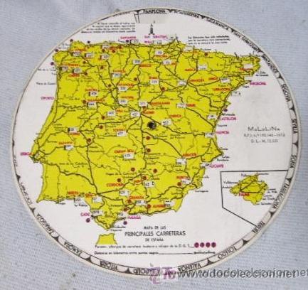 Mapa De Las Principales Carreteras De Espana C Acheter