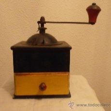 Antigüedades: MOLINILLO DE CAFE DE MADERA MARCA ELMA. Lote 169287750