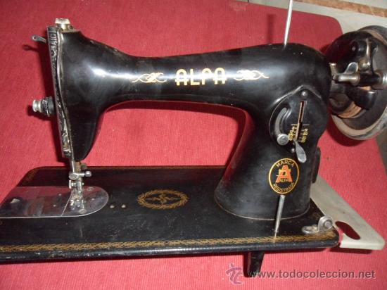 MAQUINA DE COSER ALFA (Antigüedades - Técnicas - Máquinas de Coser Antiguas - Alfa)