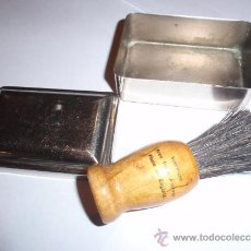 Antigüedades: CAJA PORTA BROCHA DE BARBERO. Lote 34387319