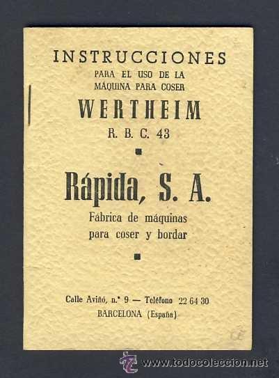 antiguo manual instrucciones para uso de maqui - Vendido