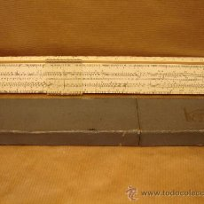 Antigüedades: ANTIGUA REGLA DE CALCULO - CCCP ANTIGUA URSS AÑO 1974 - MADERA Y CELULOIDE - 28 CMS. Lote 34466165