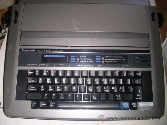 Antigüedades: Máquina de Escribir Electrónica Panasonic, como nueva. RECOGIDA LOCAL - Foto 2 - 34528680