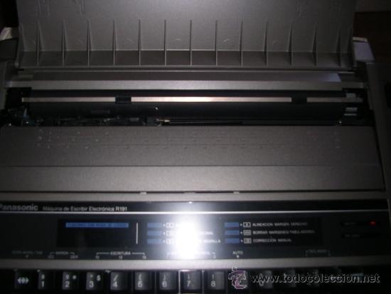 Antigüedades: Máquina de Escribir Electrónica Panasonic, como nueva. RECOGIDA LOCAL - Foto 7 - 34528680