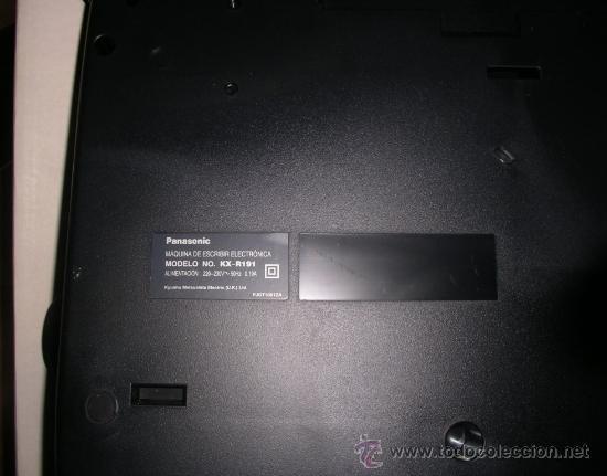 Antigüedades: Máquina de Escribir Electrónica Panasonic, como nueva. RECOGIDA LOCAL - Foto 9 - 34528680