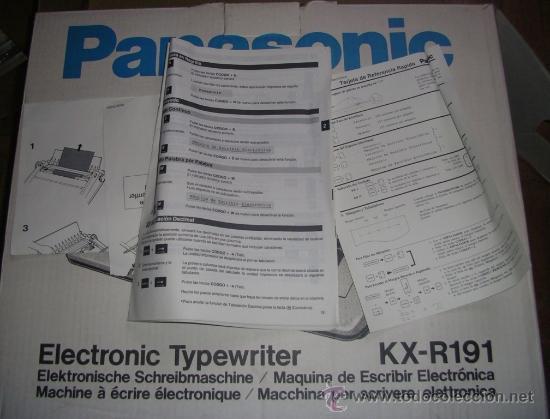 Antigüedades: Máquina de Escribir Electrónica Panasonic, como nueva. RECOGIDA LOCAL - Foto 10 - 34528680