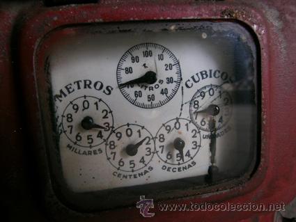 Antigüedades: Antiguo contador de gas de Catalana de Gas - MARCA SIGMA - Foto 3 - 34544944