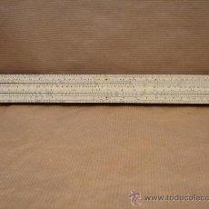 Antigüedades: ANTIGUA REGLA DE CALCULO - UNIQUE LOG LOG ENGLAND 1950 - MADERA Y PLASTICO - 30 CMS. Lote 34580376