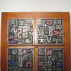 Antigüedades: IMPRENTA CUADRO TIPOGRÁFICO 20X20 CM - REFERENCIA 4-4. Lote 45755745