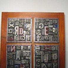 Antigüedades: IMPRENTA CUADRO TIPOGRÁFICO 20X20 CM - REFERENCIA 7-4. Lote 34589930