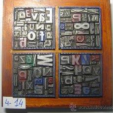Antigüedades: IMPRENTA CUADRO TIPOGRÁFICO 20X20 CM - REFERENCIA 14-4. Lote 34597298