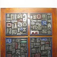 Antigüedades: IMPRENTA CUADRO TIPOGRÁFICO 20X20 CM - REFERENCIA 20-4. Lote 34609767
