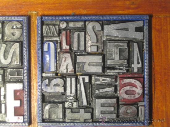 Antigüedades: imprenta cuadro tipográfico 20x20 cm - referencia 20-4 - Foto 3 - 34609767