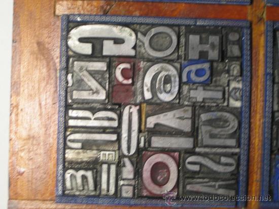 Antigüedades: imprenta cuadro tipográfico 20x20 cm - referencia 20-4 - Foto 4 - 34609767