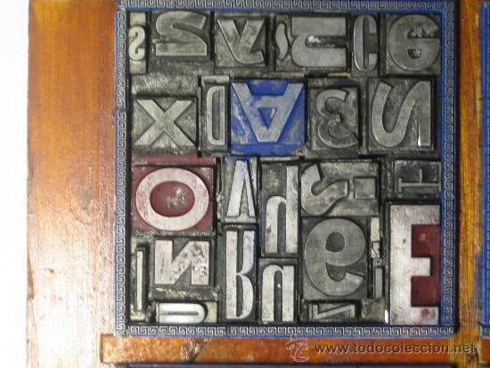 Antigüedades: imprenta cuadro tipográfico 20x20 cm - referencia 20-4 - Foto 5 - 34609767