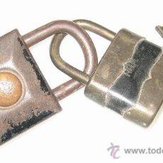 Antigüedades: 2 CANDADOS RGM. Lote 34696030