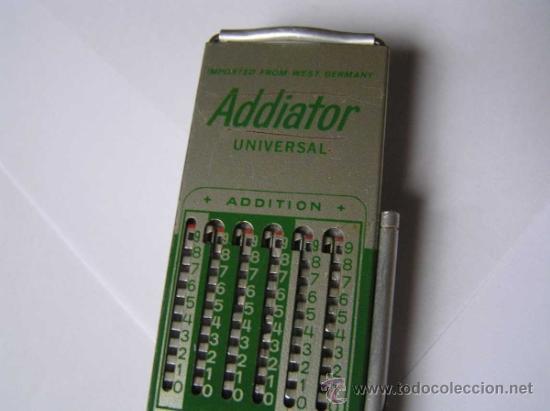 Antigüedades: CALCULADORA ADDIATOR UNIVERSAL - Foto 4 - 34699226