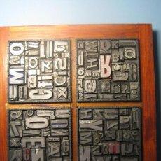Antigüedades: IMPRENTA CUADRO TIPOGRÁFICO 20X20 CM - REFERENCIA 28-4. Lote 34709791