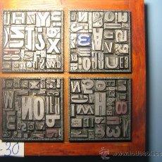 Antigüedades: IMPRENTA CUADRO TIPOGRÁFICO 20X20 CM - REFERENCIA 30-4. Lote 34712667