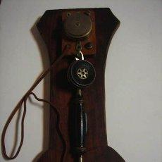 Teléfonos: TELÉFONO MUY ANTIGUO DE TROMPETA, PARA COLGAR EN LA PARED, PIEZA MUY ESPECIAL IDEAL COLECCIONISTA.. Lote 34799485