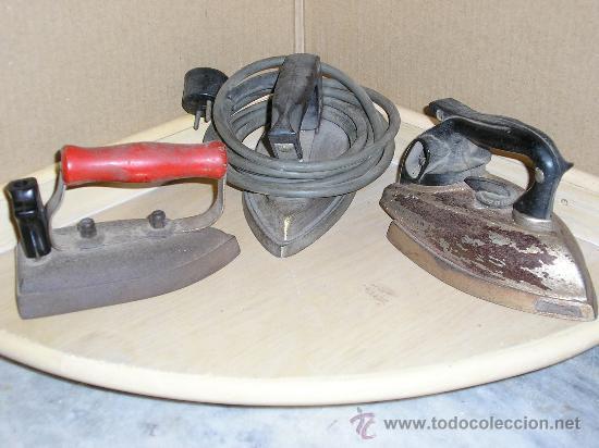 LOTE DE TRES PLANCHAS ELECTRICAS AÑOS 40 125V (Antigüedades - Técnicas - Planchas Antiguas - Eléctricas)