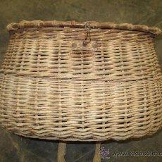 Antigüedades: ANTIGUA CESTA DE PESCADOR. PESCADO. PECES. CANTABRIA.. Lote 60365945