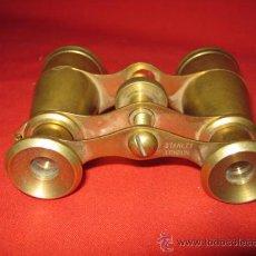 Antigüedades: PRISMÁTICOS EN BRONCE MARCA STANLEY, LONDON.. Lote 35006158