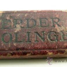 Oggetti Antichi: ANTIGUA CAJA NAVAJA AFEITAR *F. HERDER A . SOLINGEN* - *LA NAVAJA BOUÉ* -- FINAL S.XIX - PPIOS. S.XX. Lote 35103595