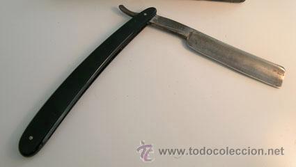 Antigüedades: Antigua Navaja de afeitar *GUILLERMO HOPPE. SOLINGEN. 13* -- Ppios. S. XX - Foto 2 - 35140470
