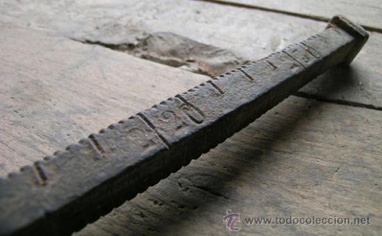 Antigüedades: Antigua Balanza Romana de pilón - Mediados S.XIX - Foto 11 - 35156941